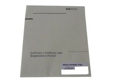 G1701AA GC/MSD ChemStation Software Certificate and Registiration Packet