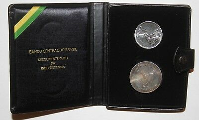 Uncirculated Proof 1972 Brazil 1- 20 Cruzeiros Silver Foreign Coin Commem set