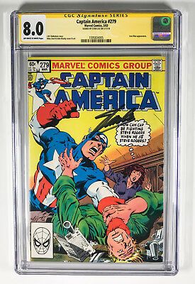 Captain America 279 CGC 8.0 signed by Stan Lee Iron Man Mike Zeck John Beatty
