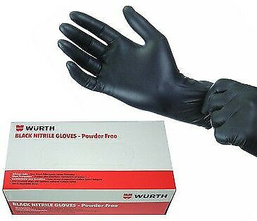 Genuine Wurth Powder Free Mechanic Tattoo Nitrile Gloves 100 - Large