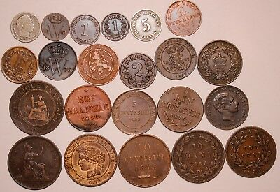 22- WORLD Coin Lot - FROM THE 1800'S         NO CULLS                #A-10