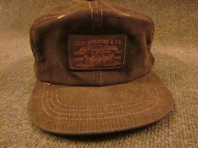 Vintage Levi Strauss Brown Corduroy Hat One Size 7 1/4 - 7 3/8 Large