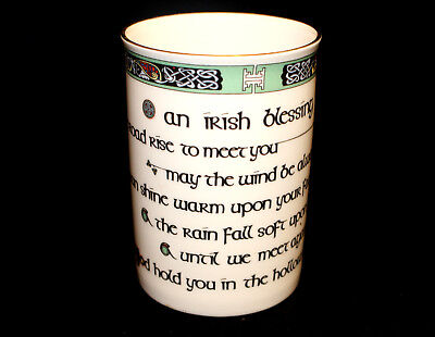 Royal Tara China Coffee Mug / Cup Irish Blessing NEW Made in Ireland Celtic