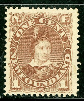 Canada 1880 Newfoundland 1 Cent Violet Brown Scott #41 Mint Z870