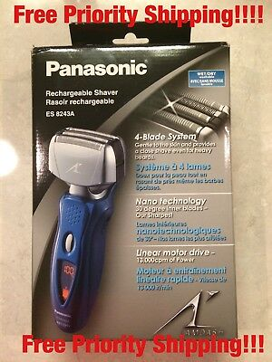 Panasonic ES8243A Arc4 Electric Razor for Men, 4-Blade Cordless Shaver, Wet-Dry