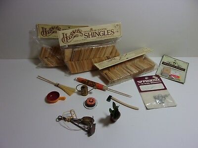 Dollhouse Miniature 1 inch scale Shingles and Accessories