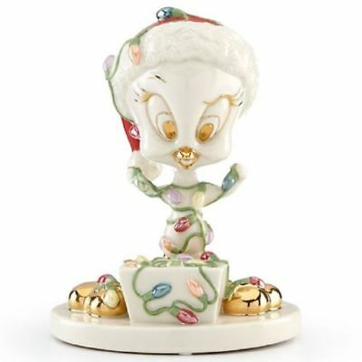 Lenox Looney Tunes Tweety Tangled in Lights 5 inch Porcelain Figurine New