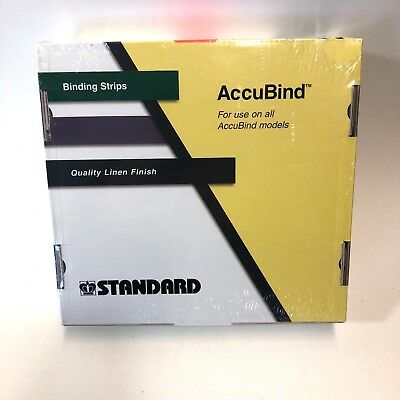 "Standard AccuBind Size B 1"" (25mm) Green Continuous Linen Finish Binding Strips"