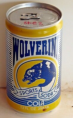 Wolverine Sports Soda Cola; Sports Beverage Company; Champaign, IL; Soda Pop Can