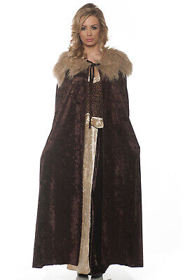 Brand New Medieval Renaissance Adult Cape (Brown/Beige)