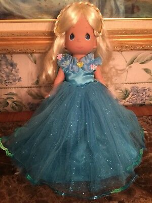 """Cinderella Precious Moments 12"""" Vinyl Doll from the Live Movie.."""