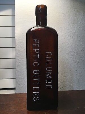 New Orleans Lousiana Antique Med Bottle, Colombo Peptic Bitters