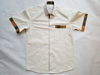 African Clothing Kente Pattern Embroidery Shirt