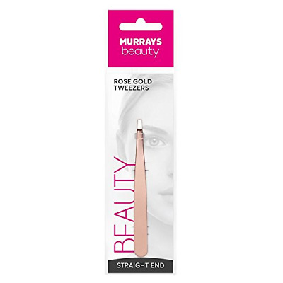 Murrays Manicure Straight Metal Tweezer, Rose Gold
