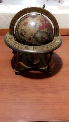 Vintage~Old World Globe~Zodiac/ Astrology~ With Wooden Stand~Made in Japan