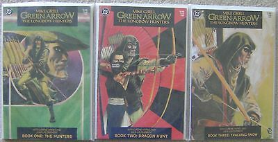 Green Arrow The Longbow Hunters #1-3 Dc Comics 1987 Vf To Nm Complete Set Grell