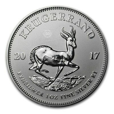 2017 South African Mint 1 Rand Krugerrand 1 oz .999 Premium BU Silver Coin