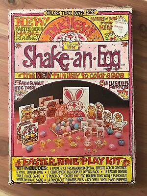 Vintage Dudley's Shake an Egg Easter Dye Coloring Kit Playset 1977