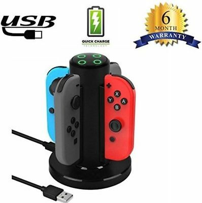 Joycon 4 en 1 Chargeur Manettes Joy-Con Charging Dock LED pour Nintendo Switch