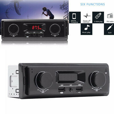 1Din Car Stereo Audio In-Dash FM Aux Input Receiver USB MP3 MMC WMA Radio Player