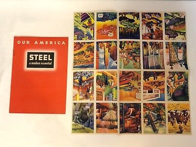1943 Coca Cola Our America School Booklet On Steel Production Book And Stamps