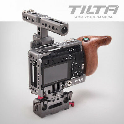 Tilta ES-T27-A Baseplate Wooden Handle For Sony A6300 A6500 A6000 Camera Rig