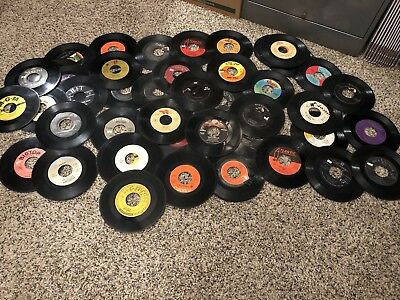 Awesome Lot Of 50 45Rpm Records-  Vinyl- Records