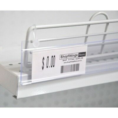 20 x Hanging Data Strip 35 x 1200 mm Clear Fridge  Freezer Wire shelving strip