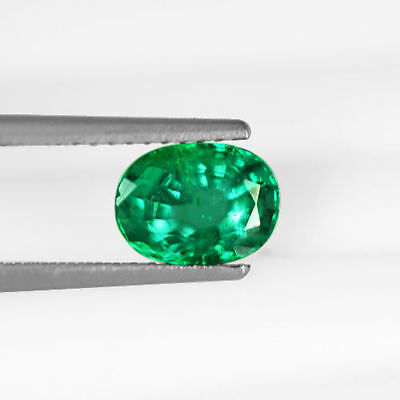 1.05 Cts Natural Top Green Emerald Loose Gem Oval Cut Zambia Untreated Excellent