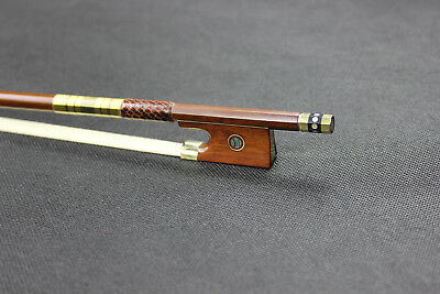 Snakewood Frog Violin Bow High Level gold mounted Warm tone size 4/4