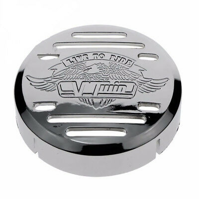 Chrome Round Horn Cover for Yamaha V-Star 650 1100 Classic Custom Motorcycle