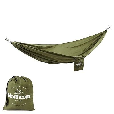 Northcore Kick Back Hammock NEW green nylon lightweight backpacking camping