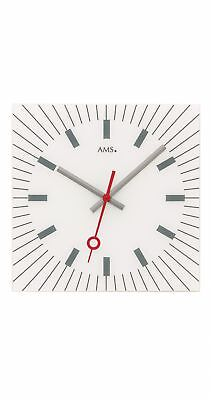 Modern wall clock with quartz movement from AMS AM W9576 NEW