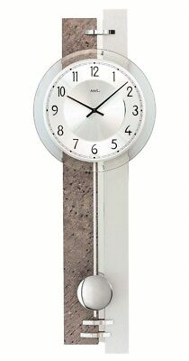 Modern wall clock with quartz movement from AMS AM W7440 NEW