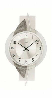 Modern wall clock with quartz movement from AMS AM W9552 NEW