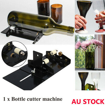 Glass Wine Bottle Cutter Cutting Machine Jar Kit Craft Machine Recycle Tools AU