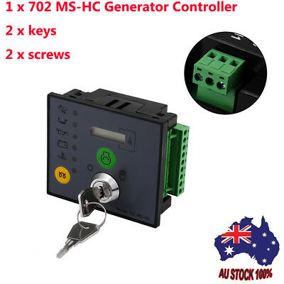 Manual/Remote Start Generator Controller + 2 Keys Engine Monitor Protection AU