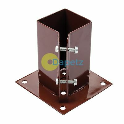 Bolt Down Clamping Fence Post Shoe 75 X 75mm bolting posts on hard surfaces