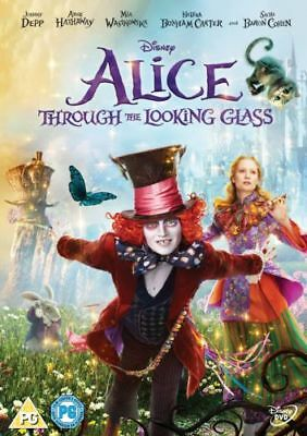 Alice Through The Looking Glass Dvd Johnny Depp Brand New & Factory Sealed