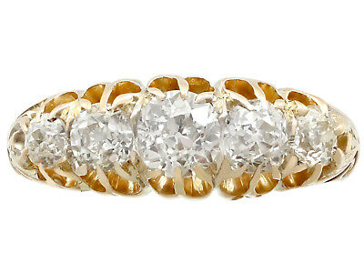 Victorian 1.36ct Diamond and 18Carat Yellow Gold Five Stone Ring