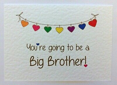 PREGNANCY ANNOUNCEMENT - You're going to be a Big Brother - Heart Bunting