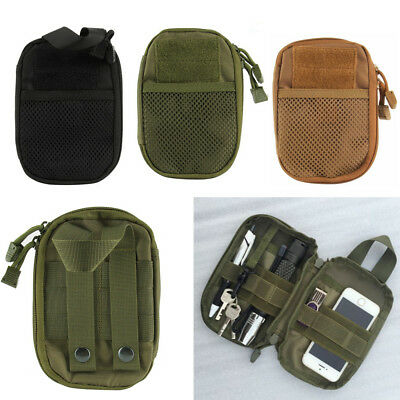 Tactical 1000D Molle Pouch EDC Waist Pack Medical First Aid EMT Bag Phone Pocket
