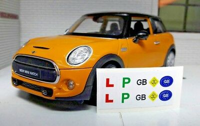 1:24 Model Toy L Plates GB Learner Miniature Stickers Baby On Board Sign
