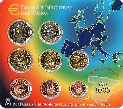 KMS 2003 Spanien   1cent - 2 Euro