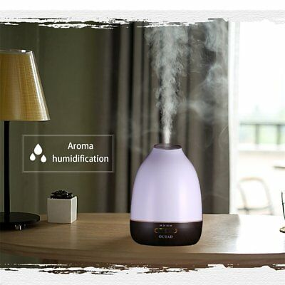 LED Ultraschall Luftbefeuchter Aroma Diffuser Aromatherapie 7 Farben Duftlampe@
