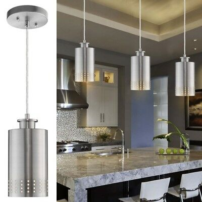 Kitchen Island Pendant Light Fixture Modern Hanging Ceiling Brushed Nickel Mini