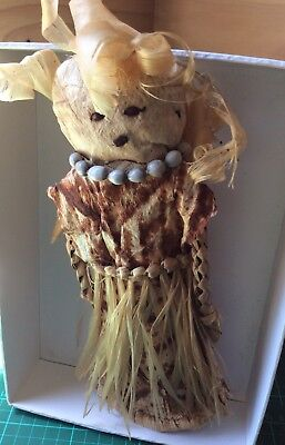 1  Handcrafted Vintage Straw/ Shell Islands Doll