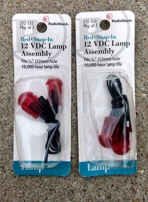 2 packages of RADIO SHACK 272-332 Red 12VDC Lamp Assembly.