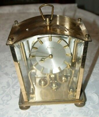 KERN Four Glass Panelled Brass Anniversary Clock, Spares/Repair
