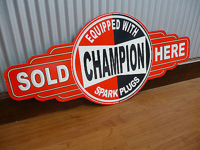 Champion Spark Plugs Sold Here metal tin sign bar garage shed Man cave